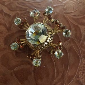 Vendome Rhinestone Encrusted Vintage Pin